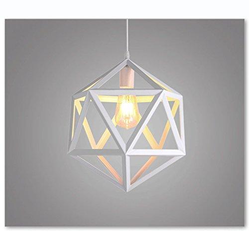 Licht Modern Einfache Eisen Kronleuchter Nordic Kreative Diamanten Vögel Deckenleuchten Restaurant Bar Cafe Hängelampe Hängeleine 100cm Verstellbar - E27 (nicht enthalten) (Weiß)