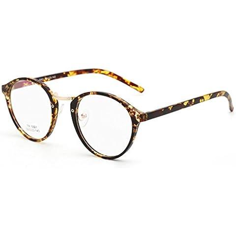 Vollter Ovale degli occhiali Uomo Donna rotonda vetro Plain completa-Rim Occhiali Occhiali