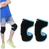 EULANT Niños Rodilleras para Baile, Esponja Grande para Proteger la Rodilla para Voleibol Escalada Baloncesto Danza Correr Senderismo Esquiar,Evitar Heridas y Rozaduras en Las Rodillas, Azul S