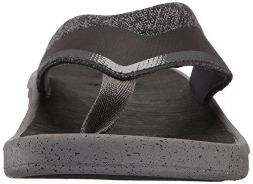 Sanuk Mens Compass Flip Flop Charcoal/Grey