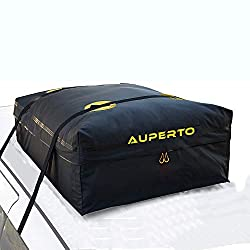 AUPERTO Car Roof Storage Bag Waterproof - 425 Litres (15 Cubic Feet) Rooftop Cargo Bag with 2 Extra Heavy Duty Straps Fits all Cars