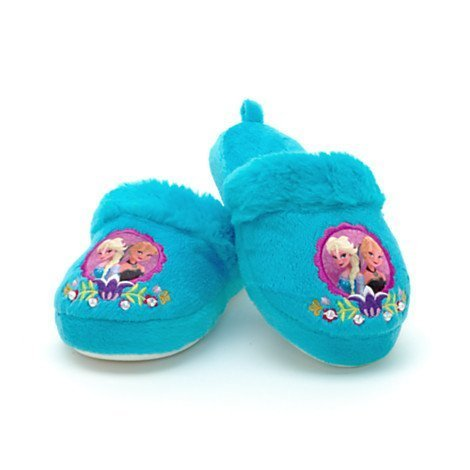 DISNEY Disney Authentic - Frozen Elsa Anna Warm Winter Indoor Slippers Shoes For Girl's / Kids - Size UK 11 - 12 .... EU 29 - 31 by Disney