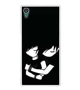 Love Couple 2D Hard Polycarbonate Designer Back Case Cover for Sony Xperia Z5 :: Sony Xperia Z5 Dual