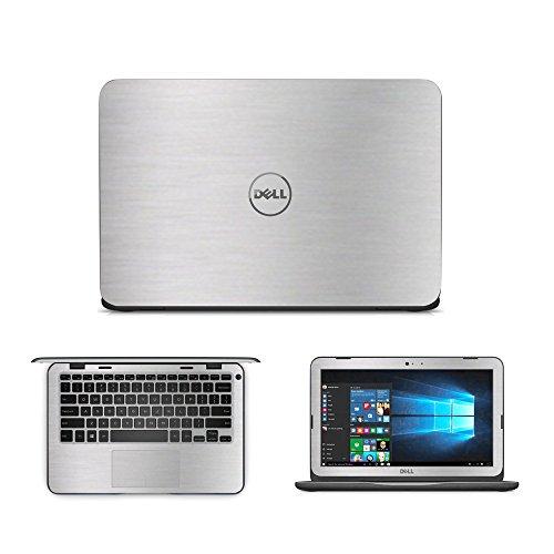 GADFLY Silber Gebürstet Aluminium Haut Aufkleber Wrap Haut Case für Dell Inspiron 113162[Non Touch] 29,5cm Laptop (Aufkleber Laptop Inspiron Dell)