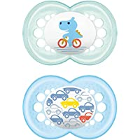 """MAM 706011 - Ciuccio """"Original"""" in silicone per bambini dai 16 mesi in su, senza BPA, confezione doppia, Modelli Assortiti"""