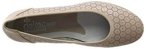 Rieker M1365 Women Closed Toe Damen Geschlossene Ballerinas Rot (rose / 31)