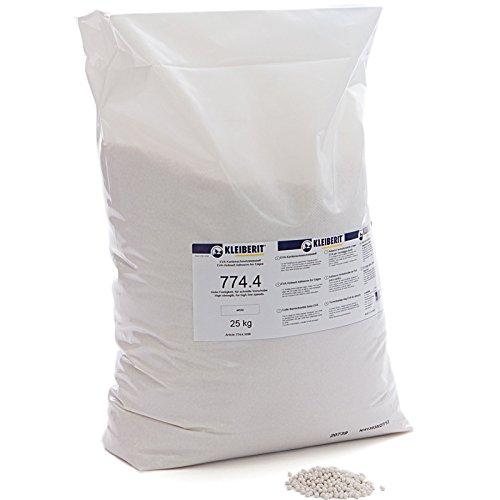 25-kg-Sack weiss Schmelzkleber Granulat KLEIBERIT 773.4 EVA Schmelzklebstoff zum Kanten leimen Möbelkanten Umleimer