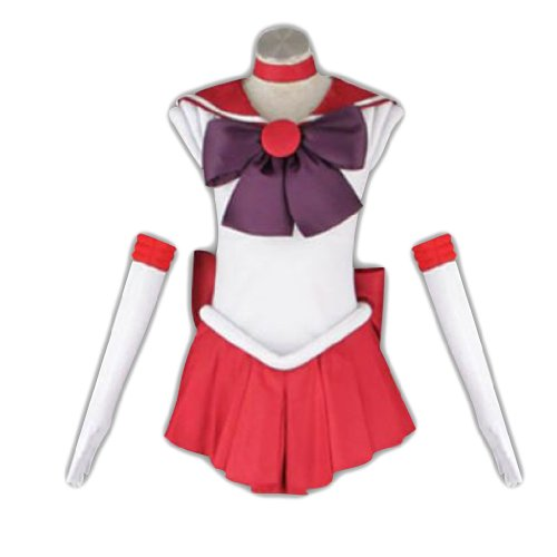 Sailor Mars Moon Kostüm - Dream2Reality japanische Anime Sailor Moon Cosplay Kostuem -Sailor Mars Rei Hino 1st Ver Fighting Kid Size Large