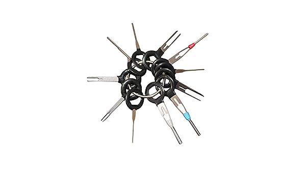Connecteur de c/âblage Accessoires de Voiture 11 pi/èces//lot qhtongliuhewu Outil de d/émontage de bornes de Voiture en Alliage daluminium