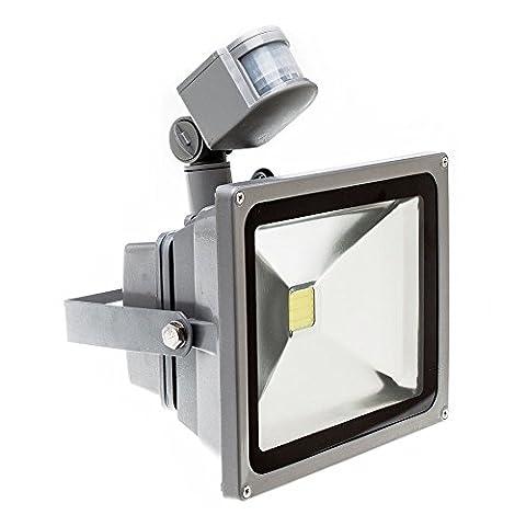 PMS 20W LED Flutlicht Fluter Strahler Warmweiss mit PIR Bewegungsmelder