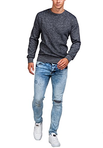 BOLF – Sweat-shirt – Manches longues – U-neck – Homme – MIX Anthracite_5008