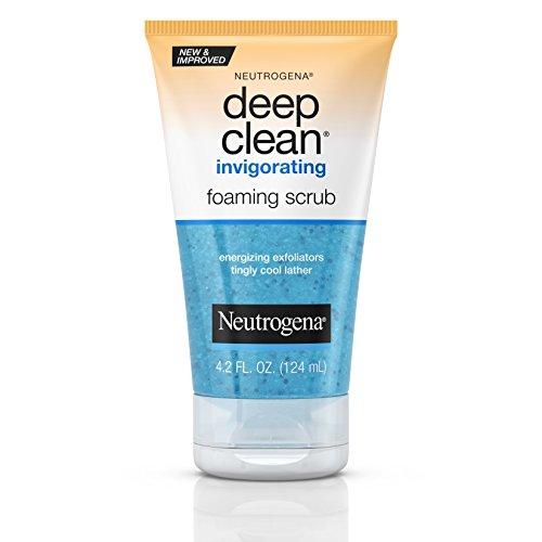 Neutrogena Gommage revitalisant et moussant Deep Clean - Mousse pétillante et rafraîchissante avec microperles énergisantes - 124 ml