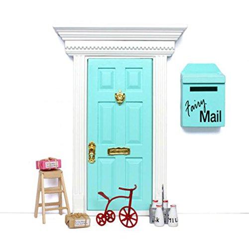 Generic 1/12 Casa Delle Bambole Latte Mobili Triciclo Cesto Scala Pacco Set Dollhouse Accessori