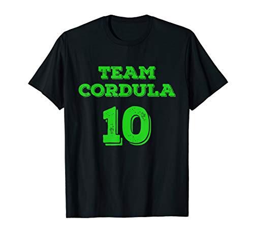Kostüm Eis Tanzen - 10 Cordula Team T-Shirt Apres Ski Fasching Karneval & Tanzen