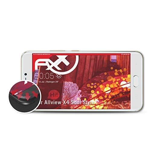 atFolix Schutzfolie passend für Allview X4 Soul Style Folie, entspiegelnde & Flexible FX Bildschirmschutzfolie (3X)