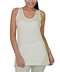 Romano Womens 100% Pure Wool Sleeveless Off White Thermal with Woolmark