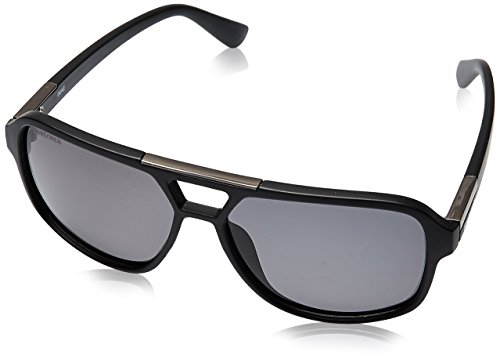Fastrack Polarized Square Men's Sunglasses - (C083BK2P|61|Black Color) image