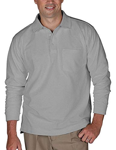 Romano Polo T-Shirt with Pocket Steel Grey L