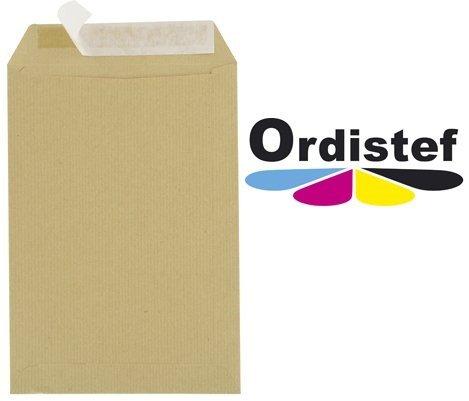 Enveloppes Kraft A4 C4 90g 229x324 sans fenêtres avec bande détachable - Paquet De 50