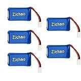 ZJchao 5 x Upgraded 25C 3.7V 380MAH Battery For Hubsan X4 H107