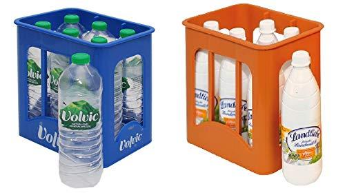 Christian Tanner 0072.6 - Getränke Set bestehend aus 6 Volvic Kiste und 6 Landliebe Milchkiste (Große Milch-kiste)