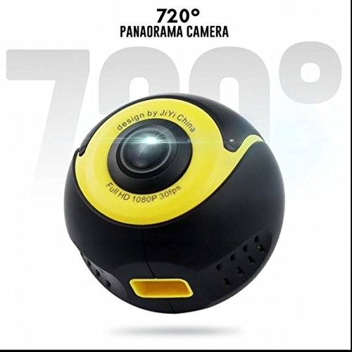 Ultra HD Doppelobjektiv 360 Grad Panorama Kamera VR Mini DV Video Action Cam,Echtzeit Nacht Aussicht,Videoaufnahme,Action-Kamera für Android Samsung/LG/HTC/Huawei