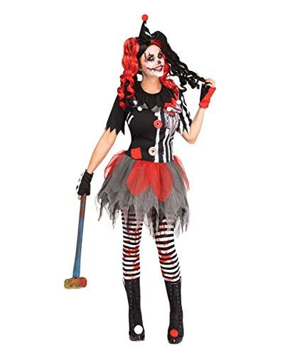 Sinister Clown Kostüm - Horror-Shop Sinister Circus Clown Kostüm für Erwachsene zu Halloween und Karneval S/M