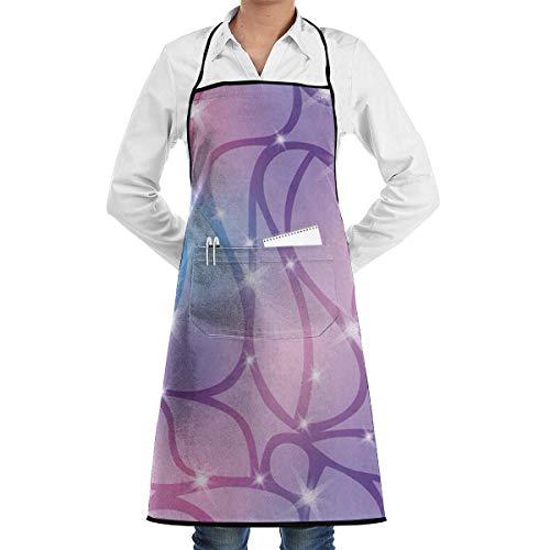 Sangeigt Küche, die Garten-Schürze kochtn, Purple Bib Apron with Pockets Unisex for Women and ()