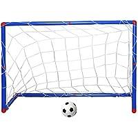 TRIXES Mini Arco de Fútbol para Niños y Chicos. Postes con Red, Inflador de Pelota, para Interior y Exterior