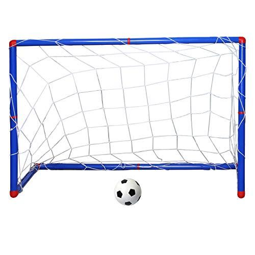 Trixes Mini-Fußball-Set für Kinder mit Fußball, Tor, Netz und Pumpe für Drinnen und draußen
