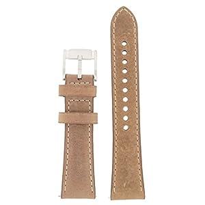 Fossil Uhrband Wechselarmband LB-CH2952 Original Ersatzband CH 2952 Uhrenarmband Leder 22 mm Braun