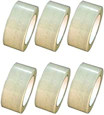 Solace Transparent Cello Tape 2 inch/48mm Width x 65 Meter Length - Pack of 6