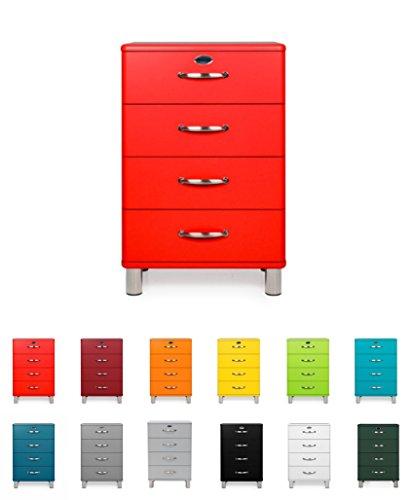 TENZO 5116-028 Malibu Designer Kommode, MDF lackiert, 92 x 60 x 41 cm, rot