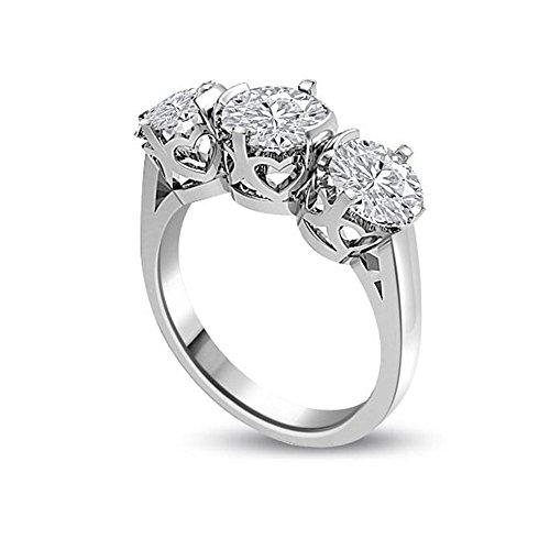 0.45ct G/VS1 Diamante Trilogy Anello da Donna con Rotonda Brillante diamanti in 18kt Oro bianco