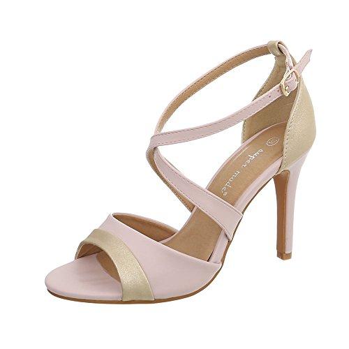 Scarpe da Donna Sandali Tacco a Spillo Sandali col Tacco Rosa Taglia 38