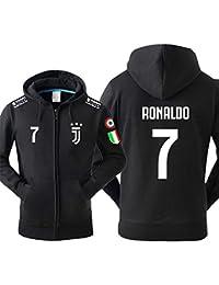 Sudadera Juventus No.7 C Ronaldo Soccer Club Round Cuello Regalo de fútbol de Manga Larga para Hombres y Mujeres Niños Niñas,No.7,S…