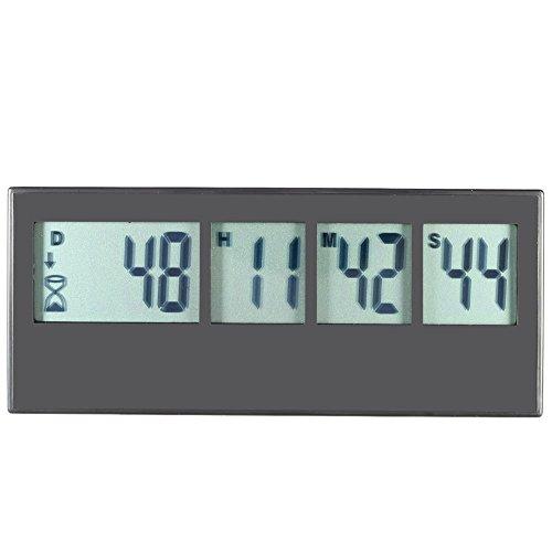 Anself Digital Küchentimer Eieruhr mit LCD Display Erinnerungsfunktion Countdown Max.999 Tag / 23H / 59M / 59S