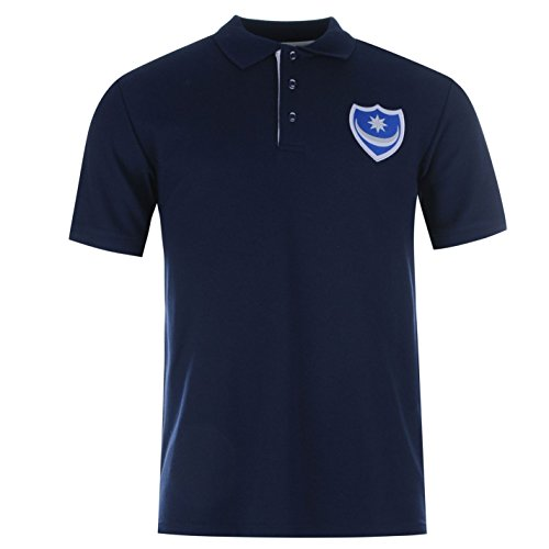Portsmouth FC Core Herren Polo Shirt Fussball Kurzarm Tee Top Polohemd Poloshirt Marineblau Large (Sexy Team Football)