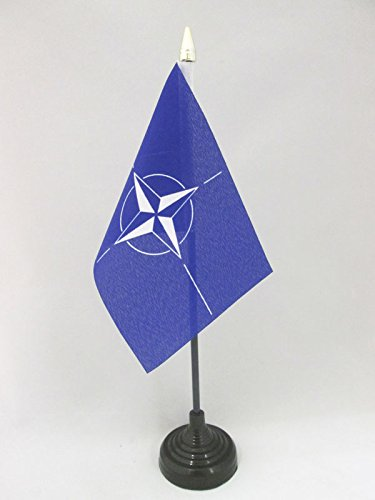 nato-table-flag-4-x-6-north-atlantic-treaty-organization-desk-flag-15-x-10-cm-golden-spear-top-az-fl