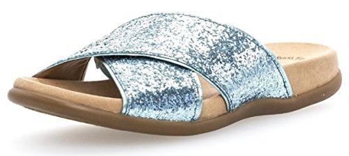 Gabor Damenschuhe 63.708.05 Damen Pantoletten, Clogs, Sandalen mit verbreiterter Auftrittfläche Grün (Bay/Minze), EU 39