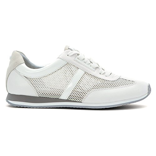 Michael Michael Kors Maggie Trainer Fashion Sneakers Optic White Mesh/Leather/Suede