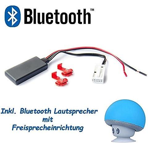 Bluetooth Adaptador BMW E60E61E63E64E83E85AUX IN Audio Música Radio Interface Incluye BT altavoz con función manos