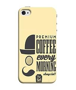 Samken Premium Coffee Designer Printed Back Cover Case For Mobile Phone :: Apple Iphone 5 / Apple Iphone 5s /5se (3D Printed, Slim Fit, Shock Proof, Hard Plastic, Matte Finish)