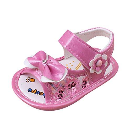 Igemy 1 Paar Baby Mädchen Bowknot Sandalen Casual Schuhe Anti-Rutsch Soft Sole Kleinkind Rosa