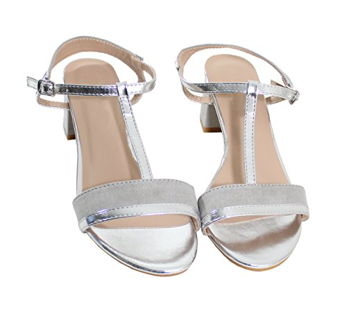 By Shoes Sandale Style Daim - Femme silver