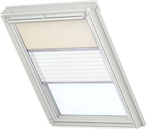 Price comparison product image Original Velux Blackout Roller Blind & Standard Folding Blind F06 Beige / Weiss