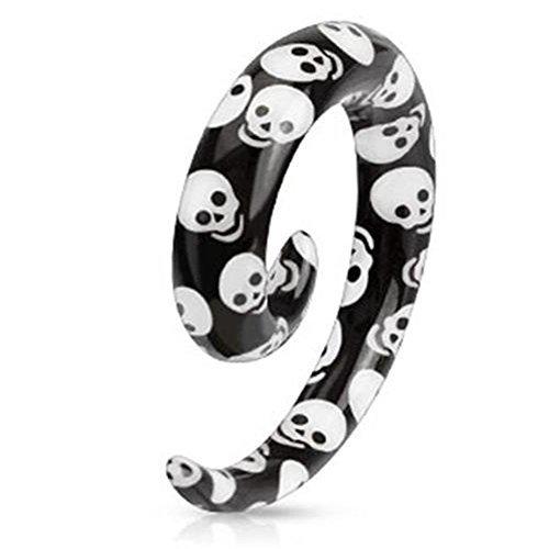 3 millimetri bianco e nero cranio ha stampato turbinio Ear