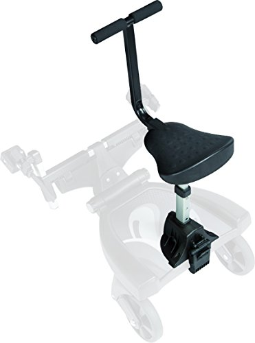 Fillikid Buggy-Board 180° mit 3fach verstellbaren Sitz | Filliboard Mitfahrbrett grau | universal passend für alle Kinderwägen & Buggies | Rollbrett für Kinderwagen Buggy Jogger bis 20 kg, Größe:Zusatzsitz