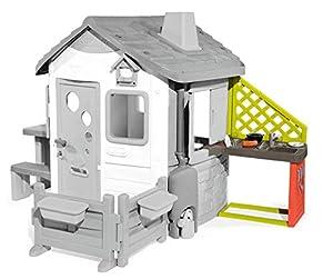 Smoby-Cocina Exterior para Jura Lodge II (810901) Accesorio casita, Color Rojo