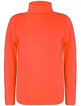LOTMART - Camiseta de manga larga y cuello alto para niños y niñas